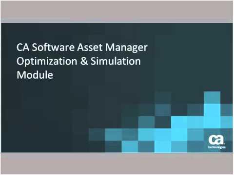 CA Software Asset Manager Update