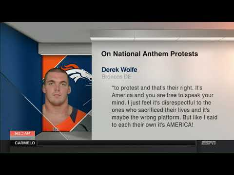 Josina Anderson: NFL players react to Trump / Broncos DE Derek Wolfe statement