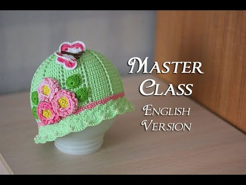 How to crochet a baby summer hat - YouTube 7e3d3449be3