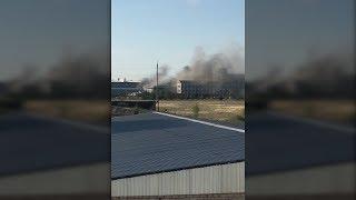 Пожар произошел на заводе по производству автохимии под Волгоградом