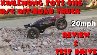 Xinlehong Toys 9116 1 / 12 scale 2WD Camió tot terreny Review and Drive Test