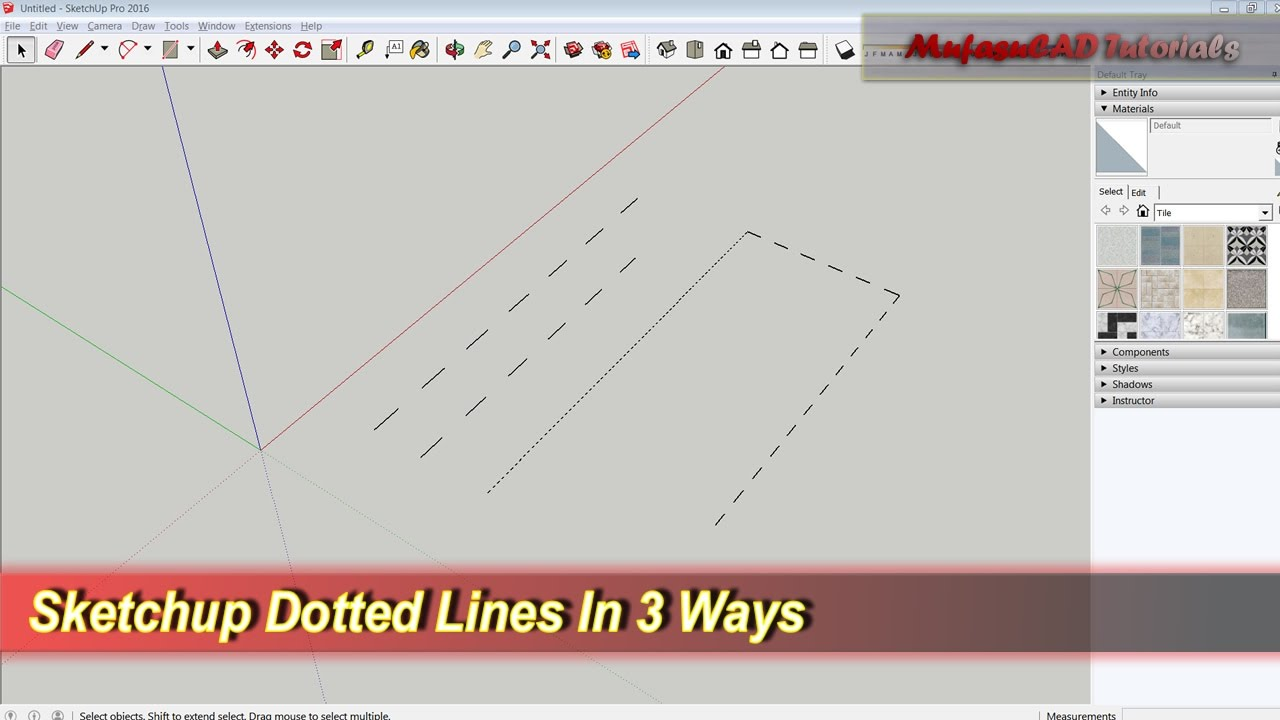 Sketchup dotted lines in 3 ways basic tutorial youtube sketchup dotted lines in 3 ways basic tutorial swarovskicordoba Gallery