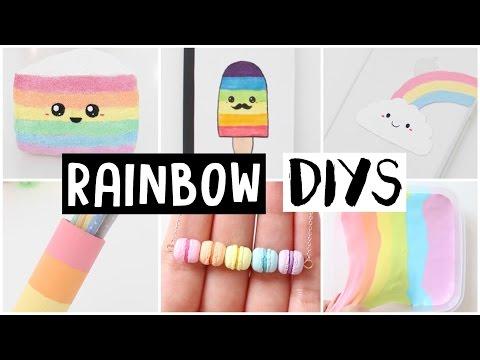 6 AMAZING RAINBOW DIYS! Easy & Cute Ideas!