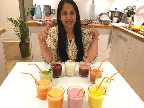 10 Varieties of Summer Fruit Drinks - English Subtitles - 1080p Full HD