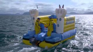 Jono and Ben's Bouncy Castle Crusade across Lake Taupo | Part 1 |