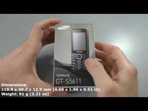 Unboxing SAMSUNG GT-S5611 Utopia silver