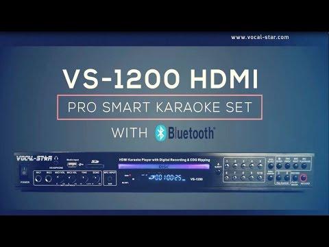 Vocal-Star VS-1200 Bluetooth HDMI Multi Format Karaoke Machine