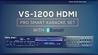 Vocal-Star VS-1200 Bluetooth HDMI Multi Format Karaoke Machine