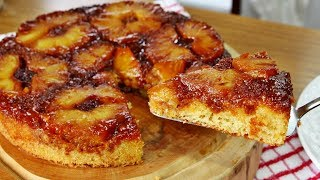 Receita de Bolo de Abacaxi Caramelizado – Super Fácil