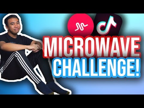 HOW TO DO THE MICROWAVE CHALLENGE WITHOUT HANDS ON TIKTOK! #MicrowaveChallenge *NEW*