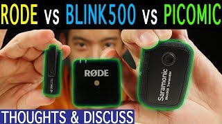 RODE GO vs Saramonic Blink 500 vs Picomic | Noise Floor | Distance | Battery Life | Obstruction Test