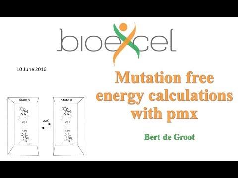 BioExcel Webinar Series #4: Mutation free energy calculations with pmx