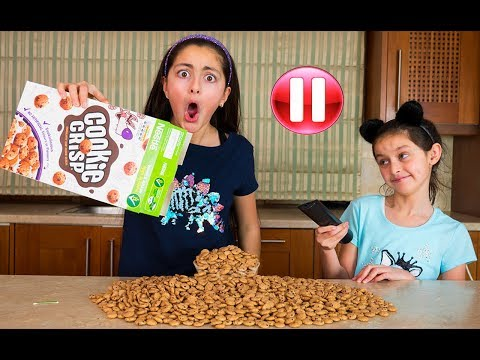 Pause Challenge For 24 Hours!! Funny Kids Video