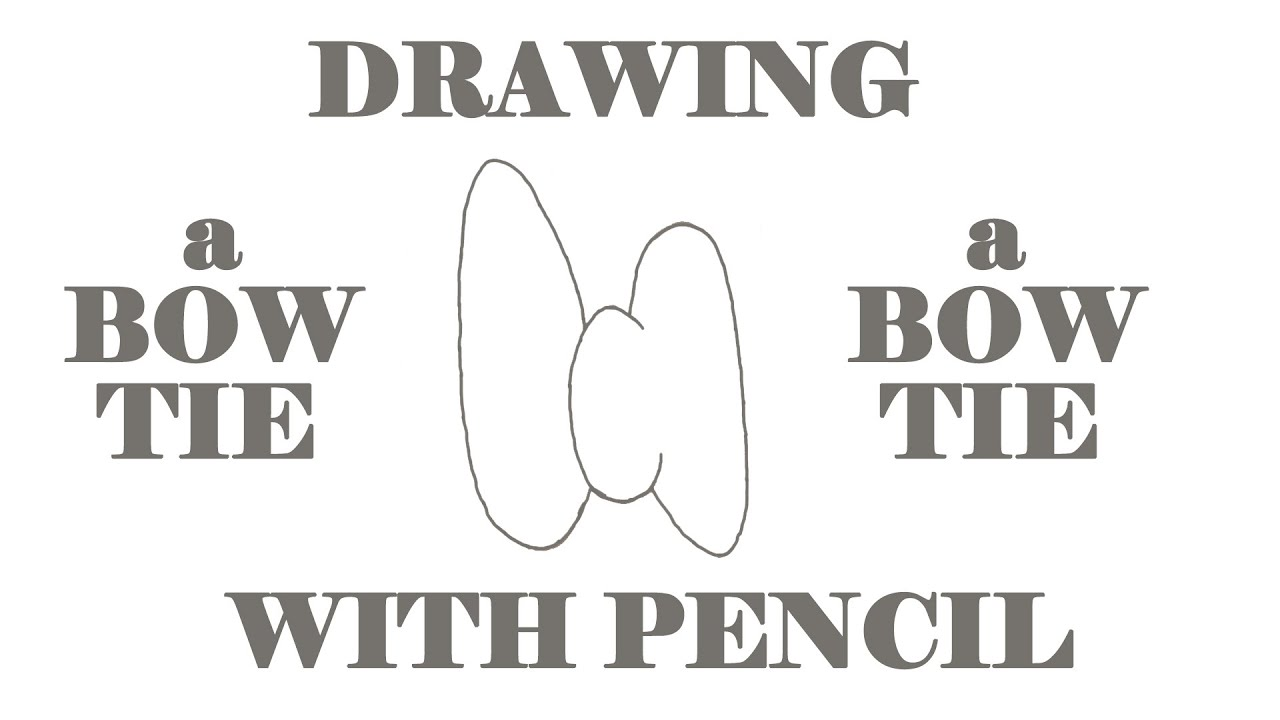 how to draw a bow tie step by step easy cute cartoon bow tie for kids on paper pencil youtube