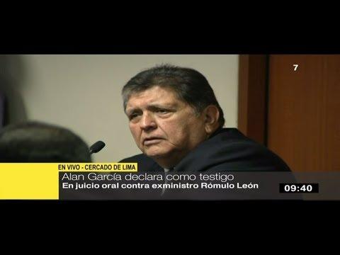 """Alan García: Rómulo León """"jamás"""" solicitó favorecer a empresario Fortunato Canaán"""