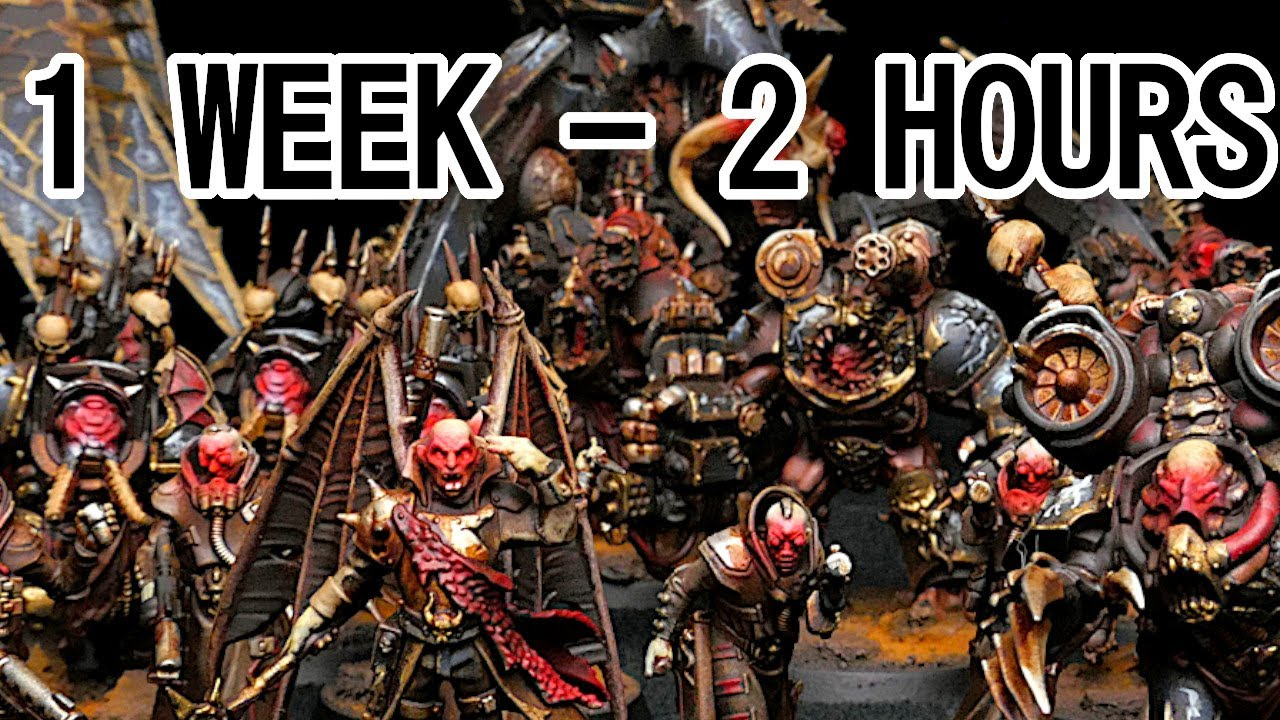 Painting Your Warhammer Army In TWO HOURS A NIGHT