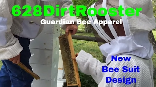 Harvesting Honey Frames For Cut Comb in The Newly Patented Guardian Bee Apparel Suit