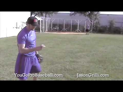 Jason Grilli Pitching A Flat Ground - Curveballs And Fastballs