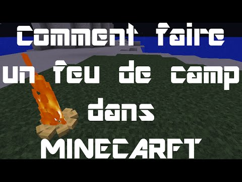 comment faire un feu de camp dans minecraft youtube. Black Bedroom Furniture Sets. Home Design Ideas