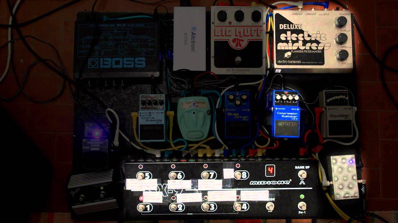 my pink floyd guitar gear custom pedalboard demo youtube. Black Bedroom Furniture Sets. Home Design Ideas