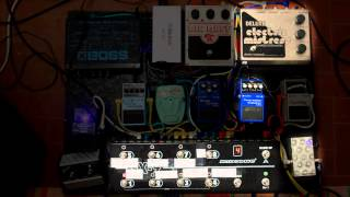My Pink Floyd guitar gear - custom pedalboard demo