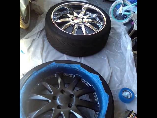 Painting my wheels/ pintando mis rines