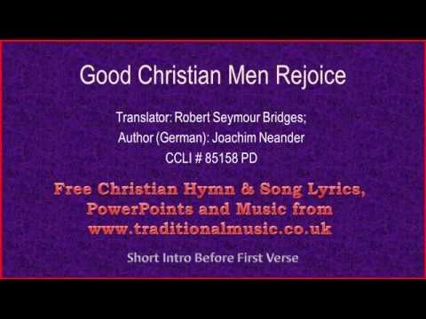 Good Christian Men Rejoice(MP196) - Hymn Lyrics & Music