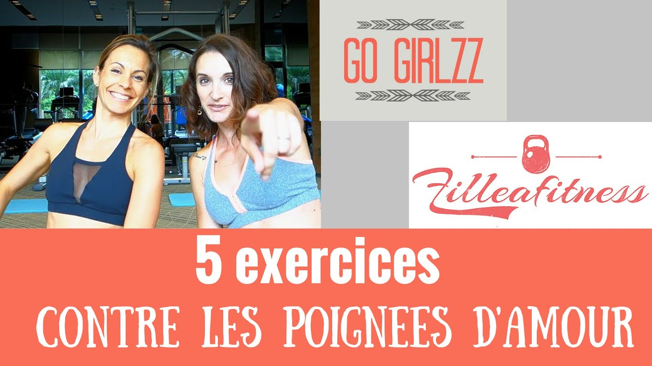 5 exercices pour perdre ses poign es d 39 amour go girlzz fille fitness youtube. Black Bedroom Furniture Sets. Home Design Ideas