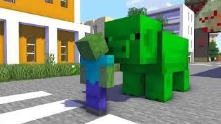 MONSTER SCHOOL : GHAST BECAME EVIL VILLAIN , RIP GHAST - Minecraft Animation
