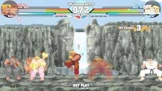 MUGEN - Evil Ken and Evil Ryu vs. Holy Ken and Holy Ryu