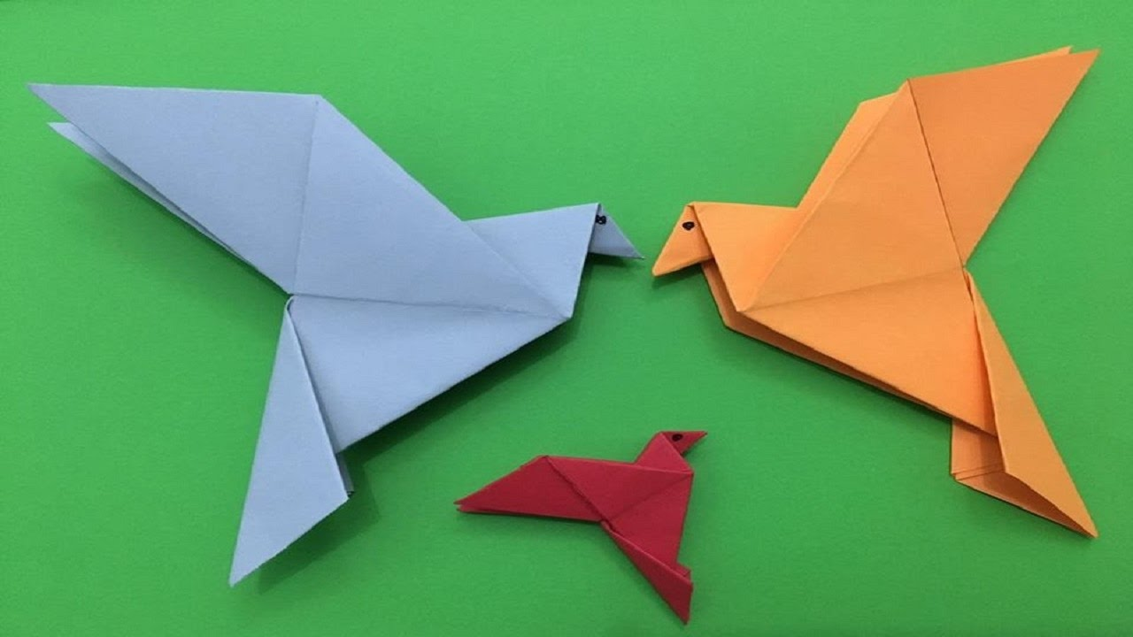 how to make a simple origami pigeon paper folding tutorial