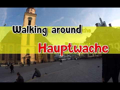 [เที่ยวยุโรป] Walking around Hauptwache Frankfurt am Main : Germany-Austria Travel Vlog Ep17