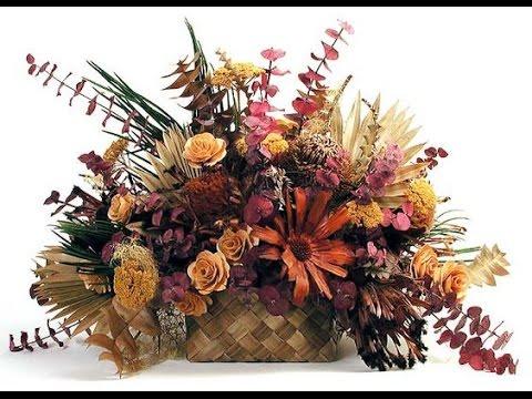 Como hacer centros de mesa con flores secas youtube - Adornos flores secas ...