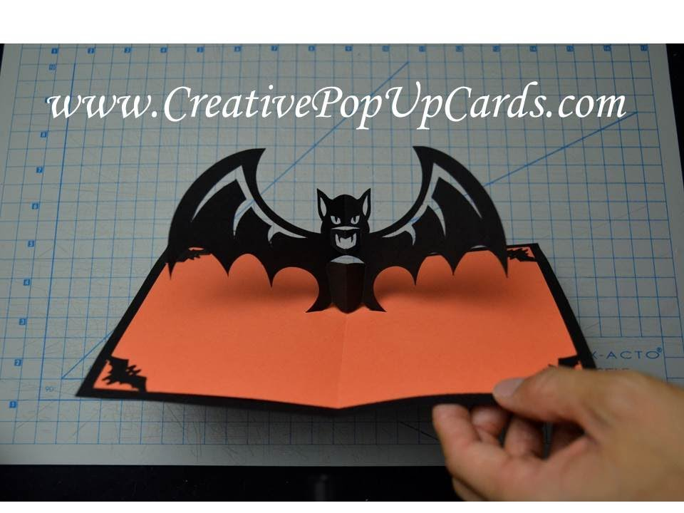 Scary Halloween Bat Pop Up Card Tutorial