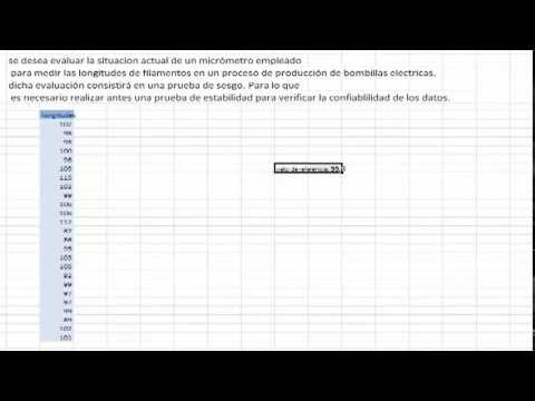 tutorial sesgo y linealidad en minitab youtube