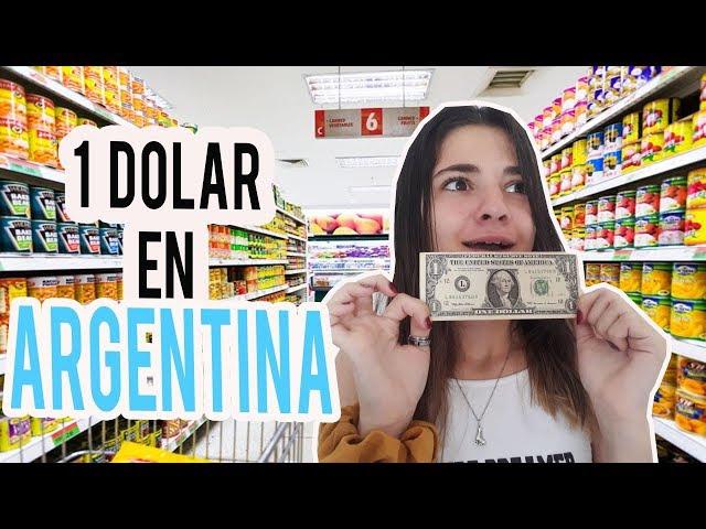 UN DIA COMIENDO POR 1 DOLAR EN ARGENTINA