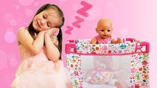 Yulya Pretend Play BABYSITTING Baby Doll Nastya Are you sleeping brother John