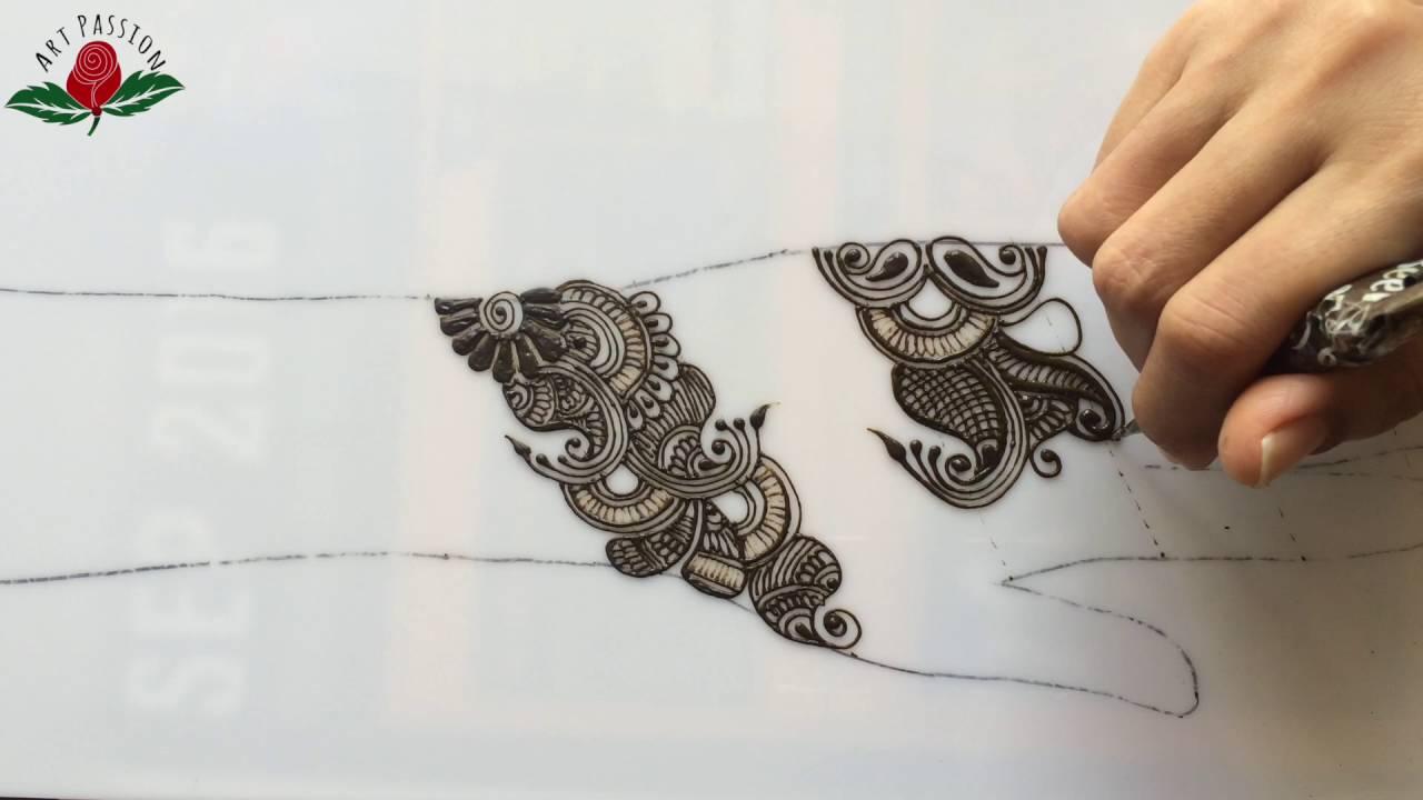simple mehendi chapter 30: stylish indo arabic mehendi design - YouTube