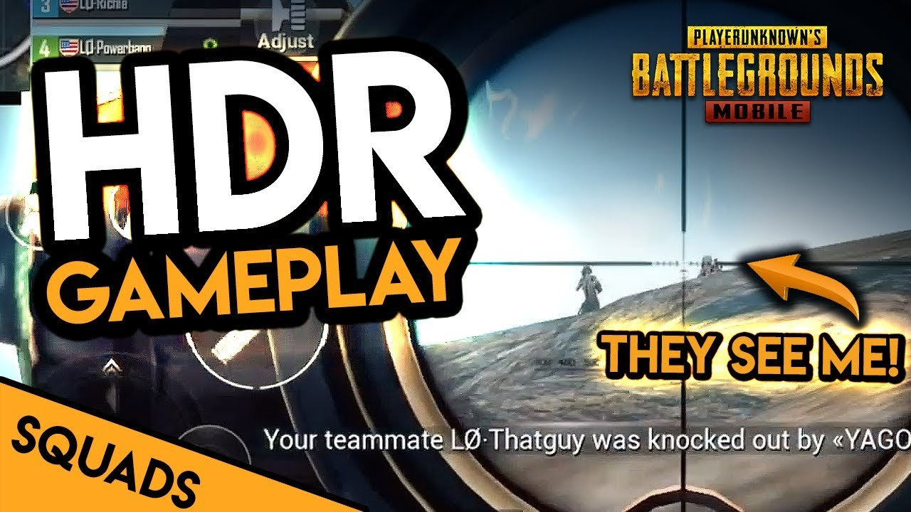Pubg Hdr Supported Mobile: TRYING TO SNIPE WITH HDR GRAPHICS