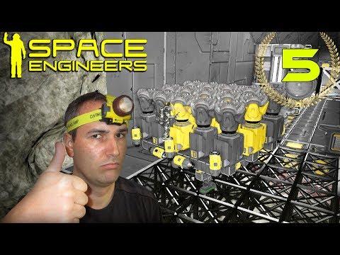 Space Engineers #5 PLATAFORMA MINERA  Gameplay Español