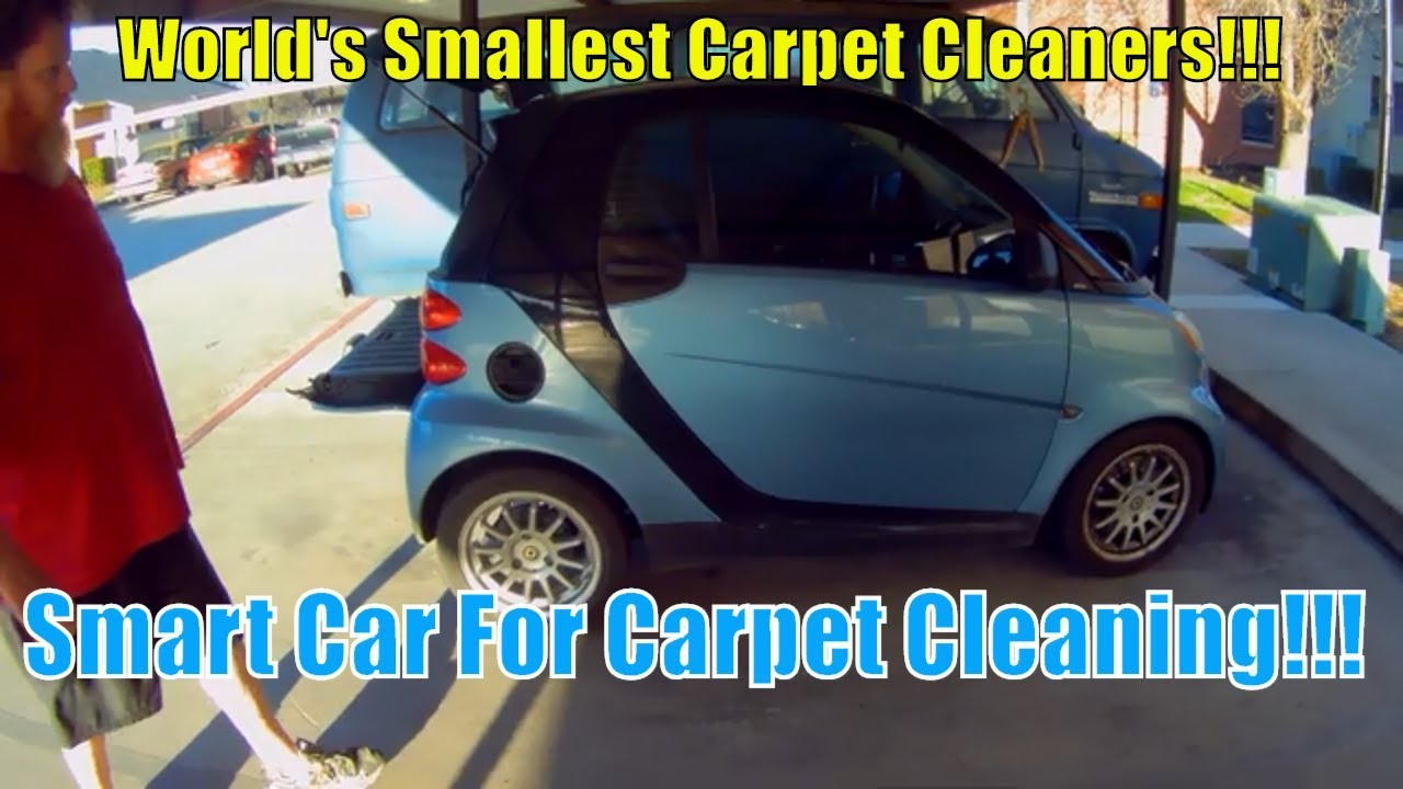 Carpet Cleaning With A Smart Car!!!