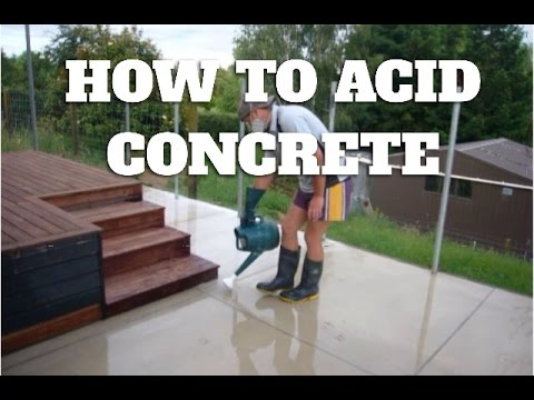 How Acid Washing Concrete See Steps Below Youtube