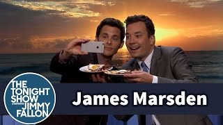 Jimmy Helps James Marsden Post His First Instagram