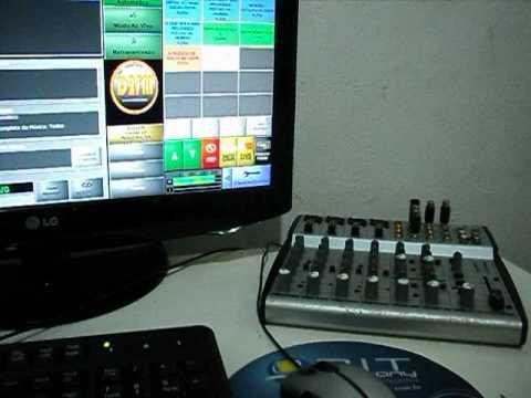 Software + Mesa de Som - Web Radio D2fm