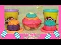 Play Doh Cupcakes Surprise Toys - Pokemon Go Characters Tiger Melody Colorful Cupcakes Toy Surprises