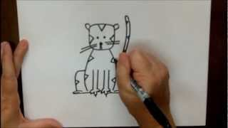 How To Draw A Tiger Step By Step Cartoon Easy Drawing Tutorial