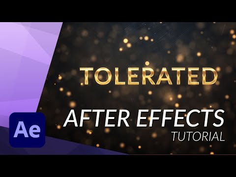 Create An Amazing Golden Intro In After Effects