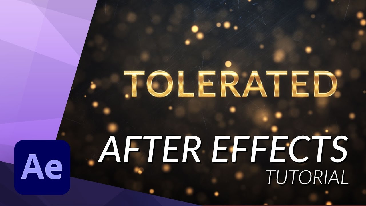 Create an Amazing Golden Intro in After Effects - YouTube