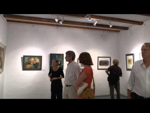 Kreativität Bildender Künstler im Alter (2), Gang durch die Ausstellung