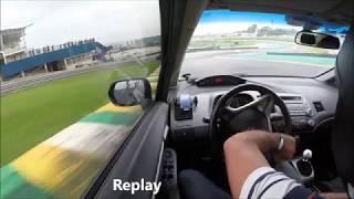 Civic Si perdendo o controle - Autódromo de Interlagos
